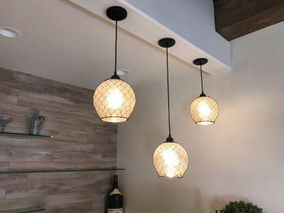 Set Of (3) Hanging Pendant Light Fixtures