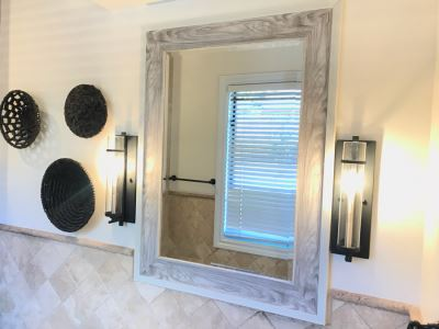 Contemporary Beveled Glass Mirror