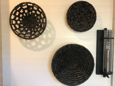 (3) Decorative Black Baskets