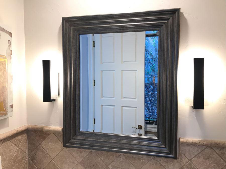 Beveled Glass Wall Mirror 37' X 32' [Photo 1]