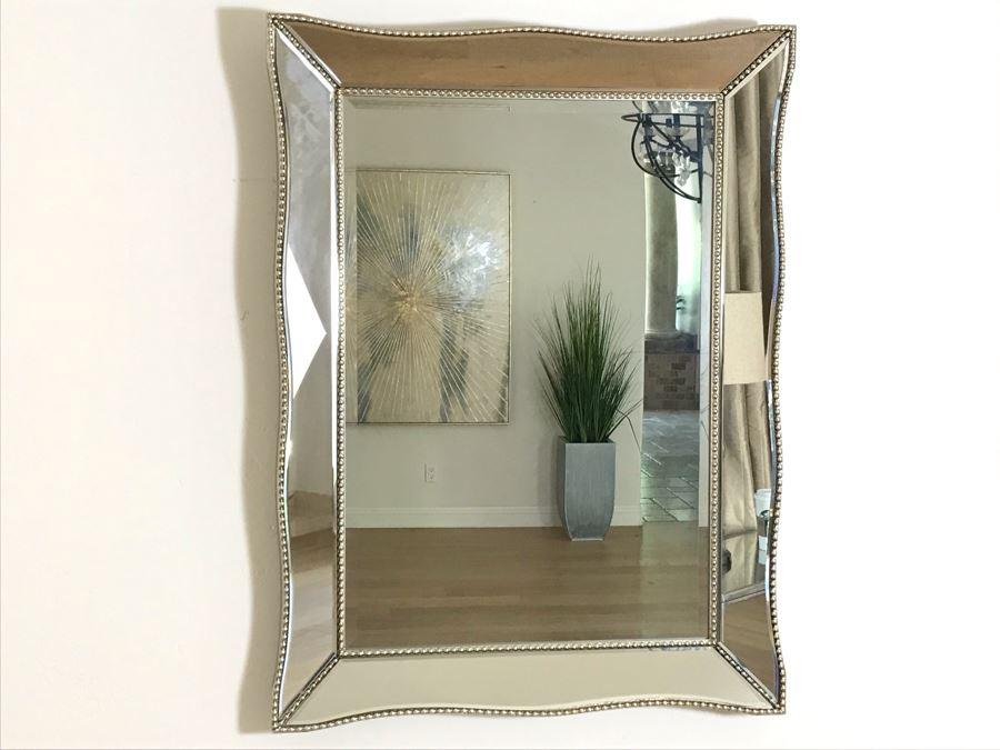 Contemporary Beveled Glass Wall Mirror 30' X 40' [Photo 1]