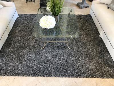 Nice Grey Tone Area Rug Shag Carpet 10' X 8'