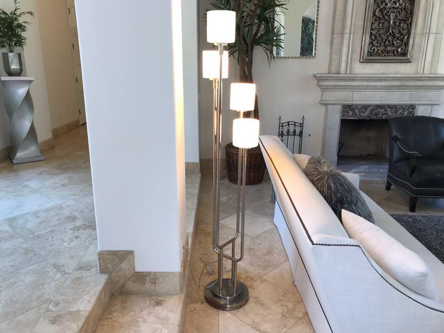 Stunning Modernist Chrome 4-Light Floor Lamp 72'H [Photo 1]