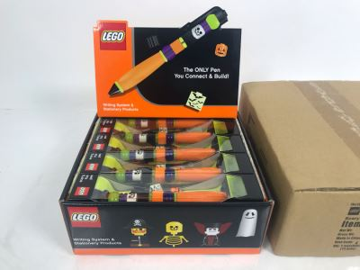 New LEGO Halloween Scary Fun Collectible Pens With Merchandiser - 12 Pens With Store Display