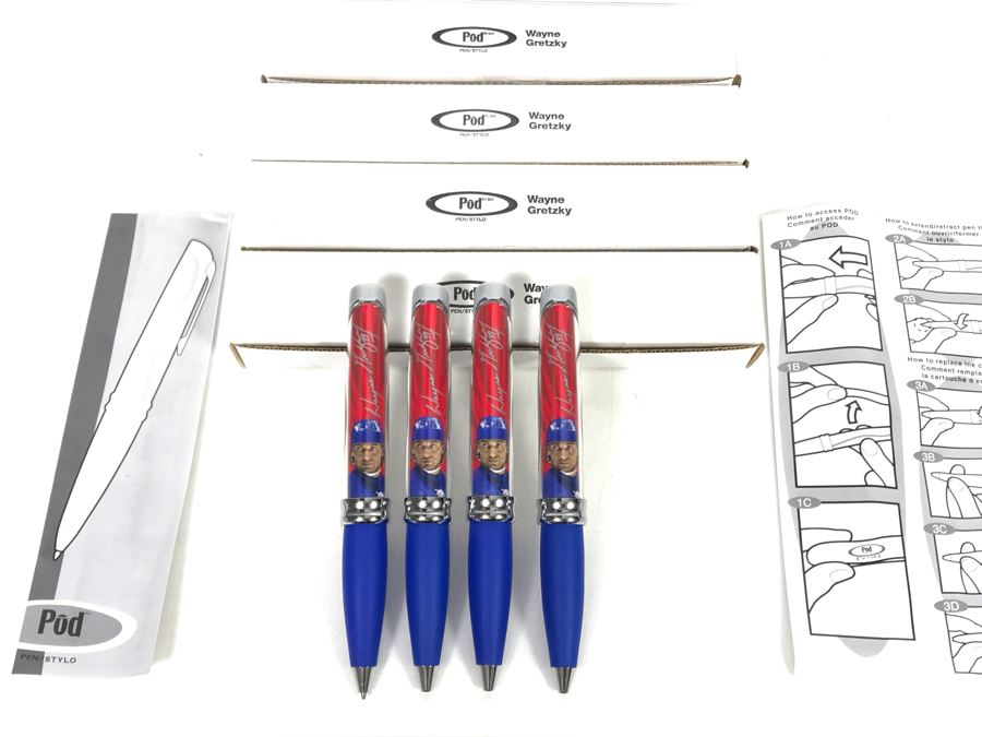 New Wayne Gretzky Collectible POD Pens Limited Edition Individually Numbered - 4 Pens [Photo 1]