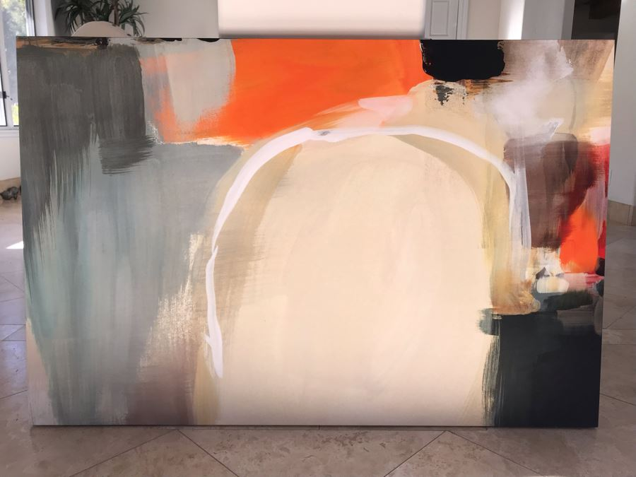 JUST ADDED - 36 X 54 Contemporary Abstract Modern Canvas Print Titled Component And Significance II [Photo 1]