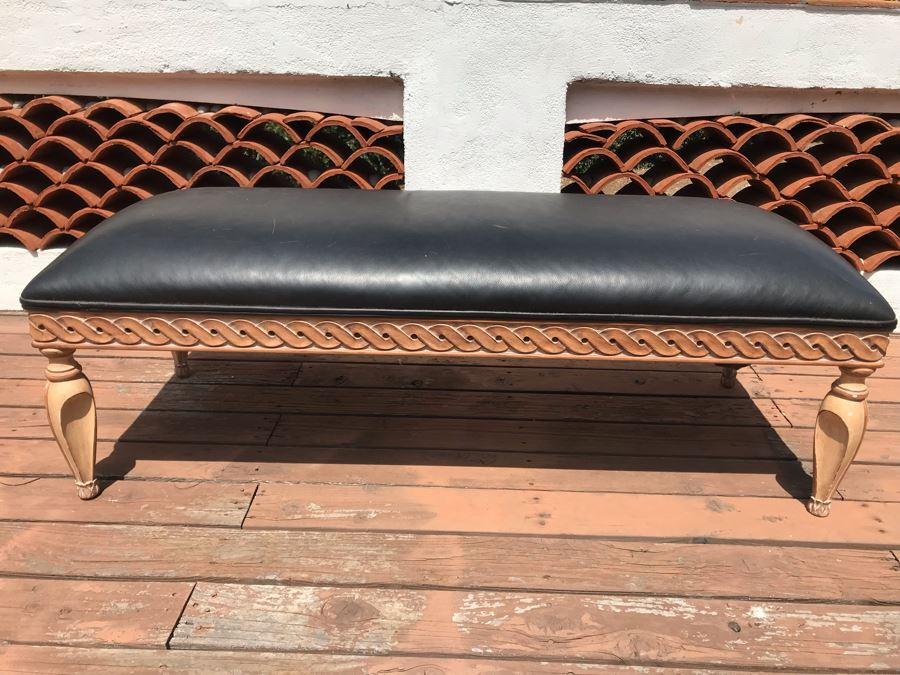 Kreiss Collection Wooden Long Bench 60W X 27D X 21H [Photo 1]