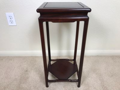 Chinese Rosewood 2-Tier Stand 10W X 21H