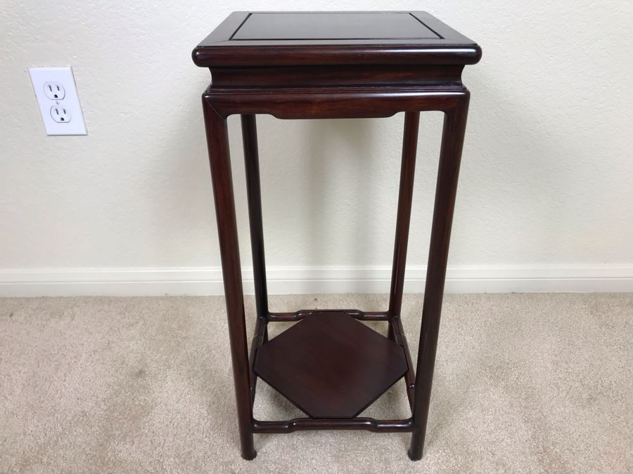 Chinese Rosewood 2-Tier Stand 10W X 21H [Photo 1]