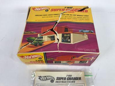 Vintage 1968 Mattel 2-Way Super-Charger In Damaged Box
