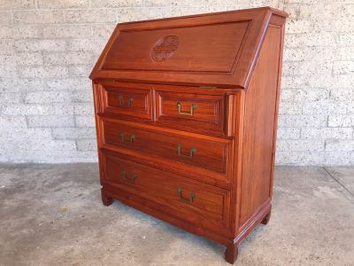 Vintage Chinese Slant Top Desk