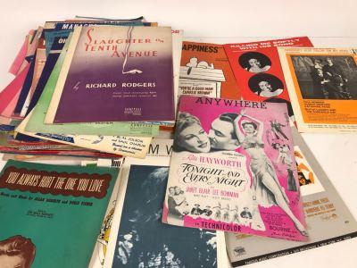 Large Vintage Sheet Music Lot
