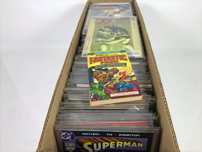 Long Box Mixed Bag Of Vintage Comic Books - See Photos For Small Sampling