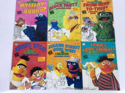 New Old Stock Vintage Coloring Books: Sesame Street