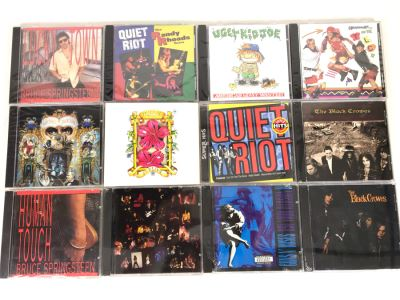 (12) Sealed Music CDs: Michael Jackson, Quiet Riot, The Black Crowes, Guns N' Roses