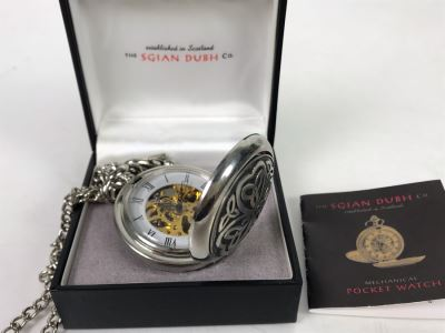 New Sgian Dubh Co Scotland Mechanical Pocket Watch