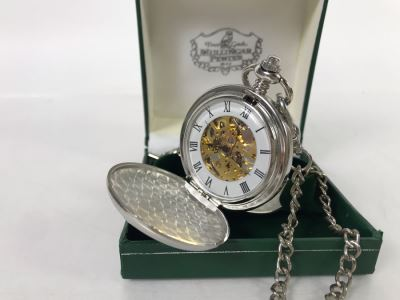 New Mullingar Pewter Mechanical Pocket Watch