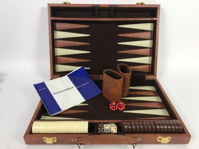 Portable Travel Case Backgammon Game