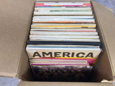 Box Of Various Vinyl Records - See Photos For Small Sampling