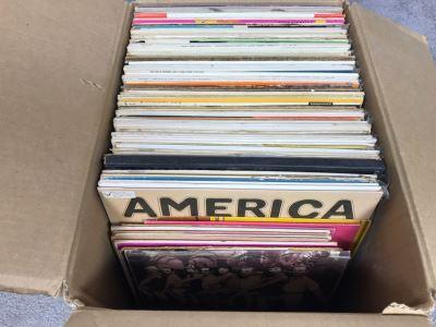 Box Of Various Vinyl Records - See Photos For Small Sampling