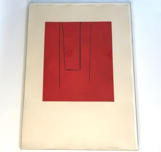 Robert Motherwell Hand Signed Artwork 12 Of 50 - 30.5 X 42.5 - (1915-1991 - Youngest Of New York School Which Included Jackson Pollock) - See Description