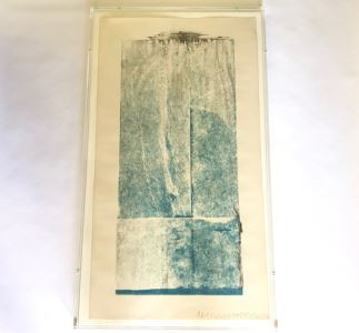 Robert Rauschenberg Hand Signed Artwork Titled 'Tampa 5 (Spring) Seasonbags' 6 Of 20 - 24 X 42 -  (1925-2008 Postmodernism / Pop Art Artist)