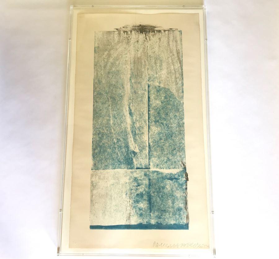 Robert Rauschenberg Hand Signed Artwork Titled 'Tampa 5 (Spring) Seasonbags' 6 Of 20 - 24 X 42 -  (1925-2008 Postmodernism / Pop Art Artist) [Photo 1]