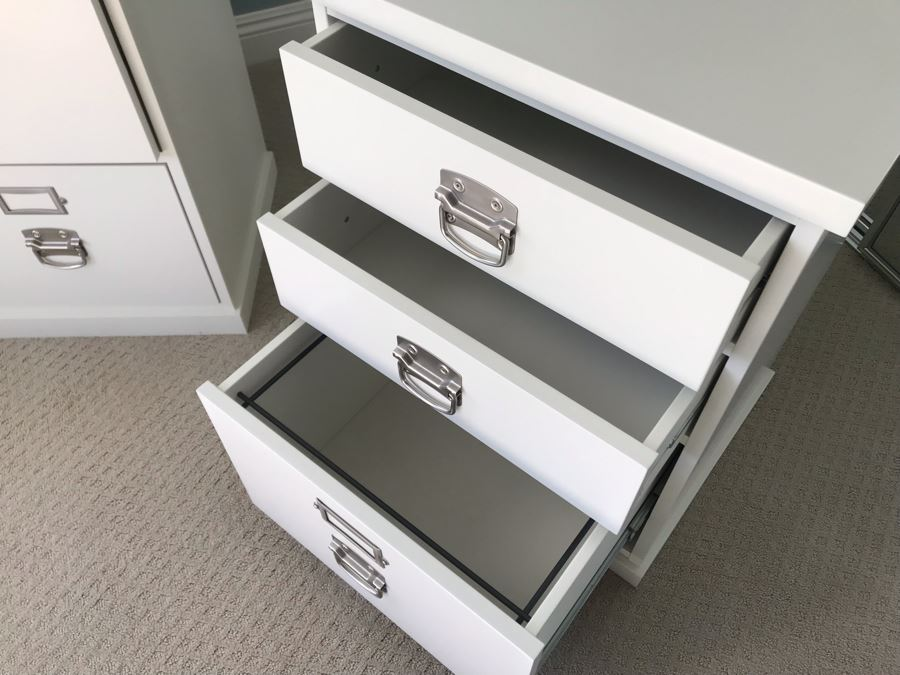 Last Minute Add Pair Of Pottery Barn White File Cabinets