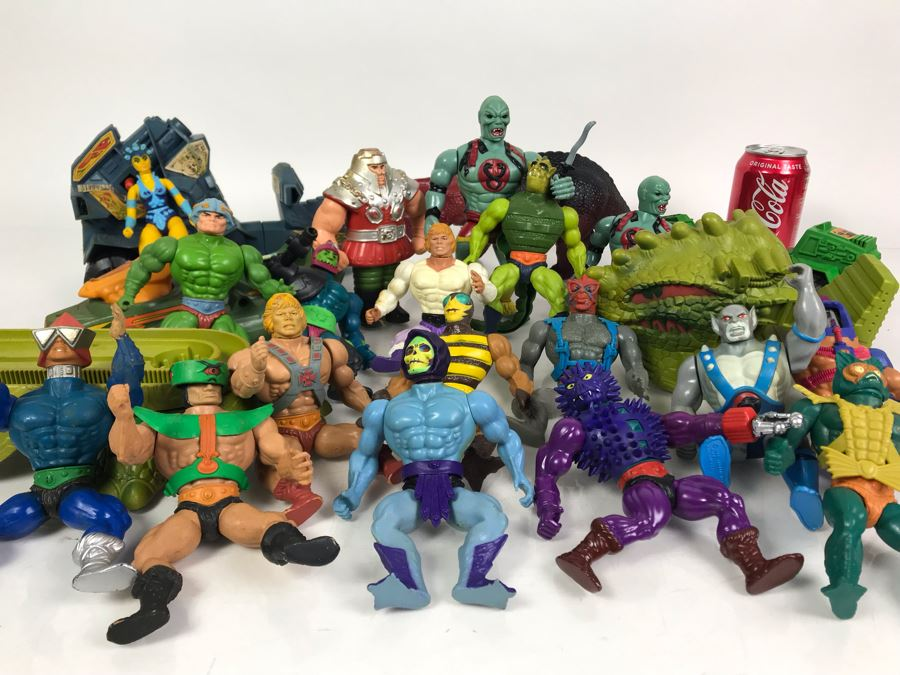Collection Of Vintage He-Man Action Figures And Vehicles 1981, 1982, 1983, 1984, 1985 - See Photos [Photo 1]