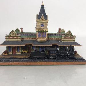 Vintage The Danbury Mint The San Diego Railroad Station Sculpture America's Historic Railroad Stations