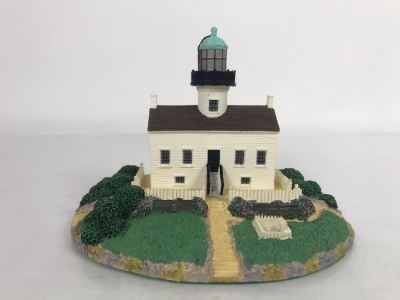 The Danbury Mint Old Point Loma Lighthouse Sculpture From Historic American Lighthouses