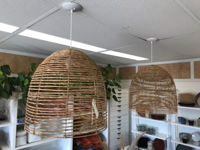 Pair Of Natural Beehive Chandelier Light Fixtures Retails $468