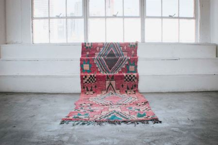 REMY Vintage Moroccan Runner 10'8' x 3'9' Tapers To 3'4' Retails $750