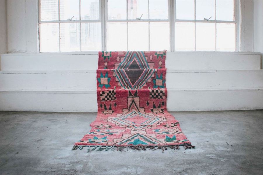 REMY Vintage Moroccan Runner 10'8' x 3'9' Tapers To 3'4' Retails $750 [Photo 1]