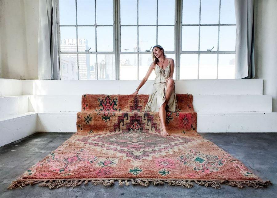 GABRIELLE Vintage Moroccan Rug 73' X 117' Retails $2,800 [Photo 1]
