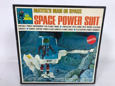 New In Box Vintage 1969 Mattel Major Matt Mason Man In Space Power Suit