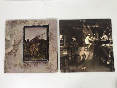 Vintage 1971 Led Zeppelin Untitled SMAS-94019 And 1979 Led Zeppelin In Through The Out Door SS 16002 Vinyl Records