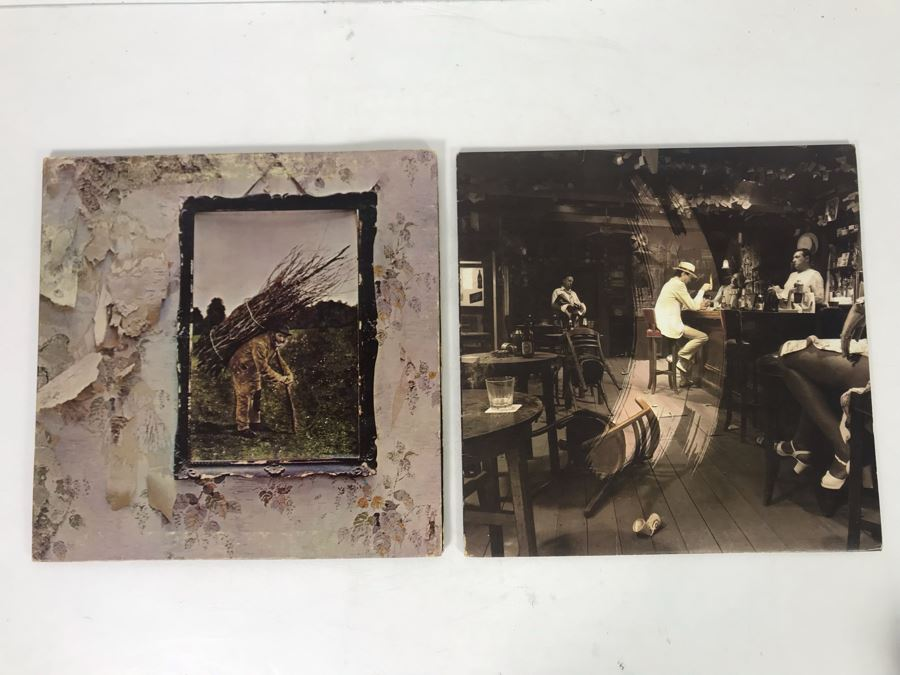 Vintage 1971 Led Zeppelin Untitled SMAS-94019 And 1979 Led Zeppelin In Through The Out Door SS 16002 Vinyl Records [Photo 1]
