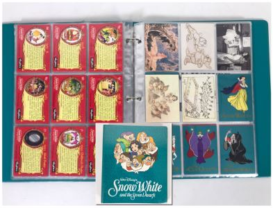 Walt Disney's Snow White And The Seven Dwarfs Skybox Collector Cards With Album Series I And II - Over 90 Cards