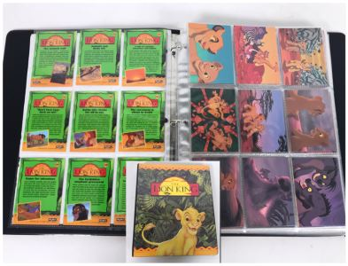 Walt Disney's The Lion King Skybox Collector Cards With Album Series I And II - Over 90 Cards