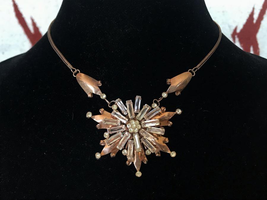 Vintage Sterling Silver Pendant Necklace 21.1g [Photo 1]