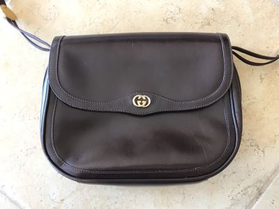 GUCCI Leather Handbag 10 X 8