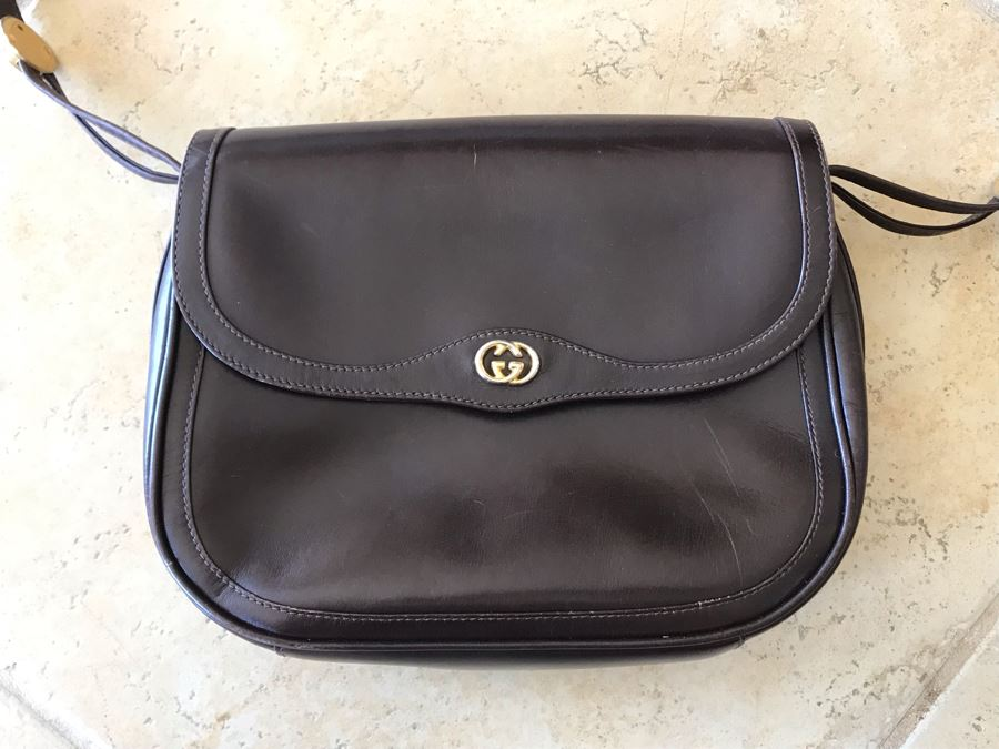 GUCCI Leather Handbag 10 X 8 [Photo 1]
