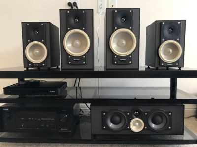 High Fidelity Audiophile Paradigm Speakers Set With Center Monitor CC-190 v.6, Pair Of Atom Monitor v.6 Speakers And Pair Of Mini Monitor V.6 Speakers - 6 Speakers Total