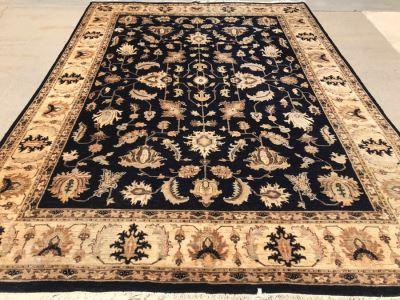 Vintage Handmade Persian Chobi Wool Area Rug 9' X 12' Retailed $3,800