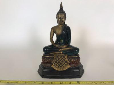 Metal Buddha Sculpture 7W X 5D X 9.5H