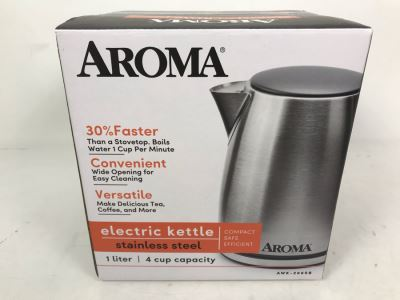 New Aroma Electric Kettle Stainless Steel AWK-266SB