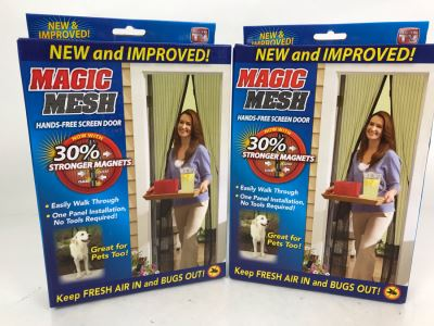 Pair Of Magic Mesh Hands-Free Screen Door