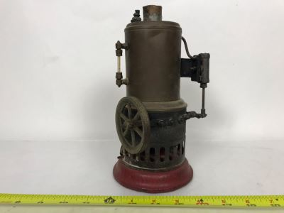 Antique Toy Steam Engine (Believe It's A Weeden No. 20) 5W X 9H