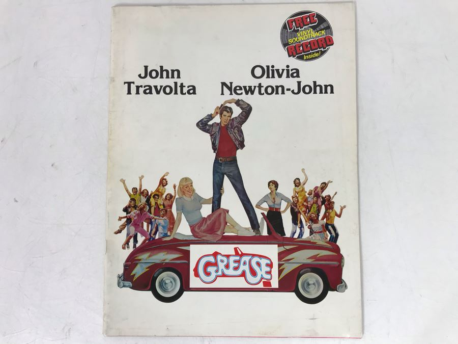 Original Grease Movie Program [Photo 1]
